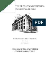 Chile Pol+¡tica monet+íria BC Massad  dpe01