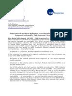 Fnl News Release - PEER Data Preliminary 8-12-11-1