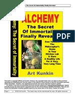 Alchemy the Secret of Immortality