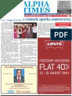 Alpha Times Aug. 14, 2011