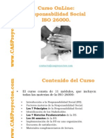 Norma ISO 26000 acerca de Responsabilidad Social