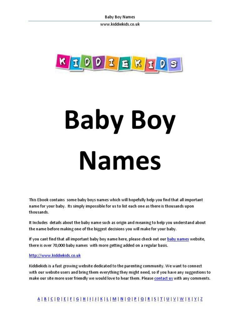 Baby Boy Names Languages