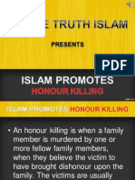 12. Islam Promotes Honour Killings