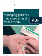 Managing Patients Medicines After Discharge From Hospital