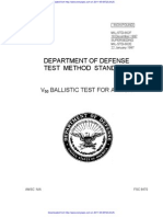 V50 BALLISTIC TEST FOR ARMOR / Mil Std 662f