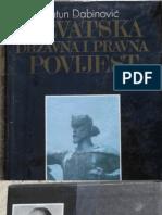 Dabinovic Hrvatska Drzavna i Pravna Povijest