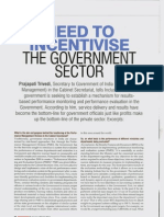 Need to Incentivize the Government Sector