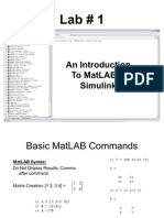 An Introduction to MatLAB & Simulink1