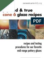 15 Tried and True Cone 6 Glaze Recipes