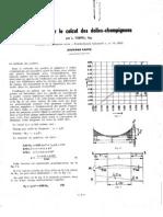 Méthode pour le calcul de dalles champignons