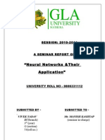 """Seminar Report on """"neural network and their applications"""""""