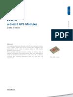 Lea 6 Datasheet (Gps.g6 Hw 09004)