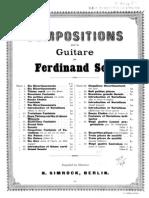 Fernando Sor, op.11 - Deux thèmes variés et 12 menuets