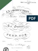 Fernando Sor, op.20 - Introduction et thême varié