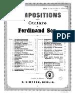 Fernando Sor, op.23 - Cinquième divertissement facile