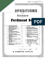 Fernando Sor, op.29 - Douze études