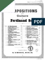 Fernando Sor, op.30 - 7e fantaisie sur deux airs connus
