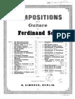 Fernando Sor, Op.31 - Vingt Quatre Exercices Livre I