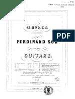 Fernando Sor, Op.43 - Mes Ennuis Six Bagatelles