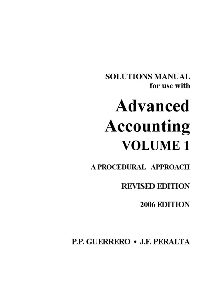 advanced accounting volume 1 multiple choice textbook rh fr scribd com advanced financial accounting solutions manual advanced accounting solutions manual by guerrero