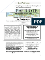 Le Patriote Journal Nº 8, Oct.2006