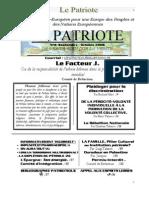 Le Patriote Journal Nº 8, Oct.2006