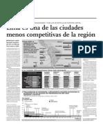 Lima es una de las ciudades menos competitivas de la región