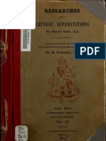 Dore, Henry - Research Into Chinese Superstitions Vol 3