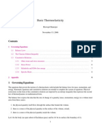 ThermoElasticity notes