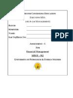 Financial Management Assg-1