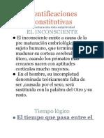 IDEN TIFICACIONES CONSTITUTIVAS