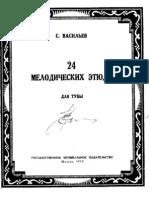 (Score) Vassilyev - Melodic Studies for Tuba