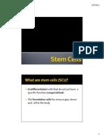 MBB 1 Stem Cells - Handout