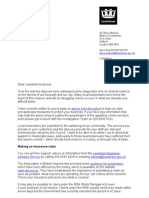 Business Recovery Letter 11.08.11