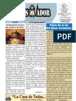 """2011-08-14""""El Conquistador"""" Boletín Semanal de La casa de Todos- Chimbote"""