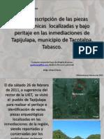 Breve descripción de las piezas prehispánicas  localizadas  en