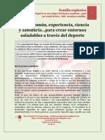 Sentido comun, experiencia, ciencia y sabidurìa en beneficio del deporte. MARIO URREGO-12-08-11