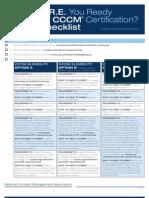 Cert07 Cccm Are Checklist
