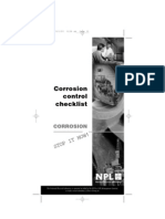 Checklist for Corrosion Control