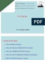 Filtração - Parte 2 - Tipos de Filtros