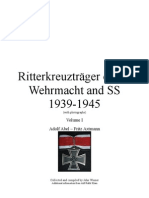 Ritterkreuzträger of the Wehrmacht and SS 1939-1945 Vol I