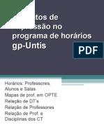 Formatos Impressão Programa Horários gp-Untis