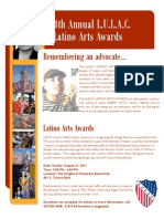2011 Latino Arts Awards Flyer V3