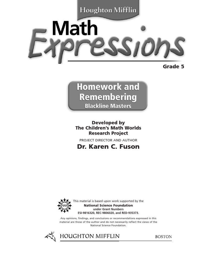 Printables Math Expressions Grade 4 Worksheets math expressions grade 5 unit 1 test form b u003d love 2014 worksheet mathexpressionshomeworkandremembering grade5studentversion b