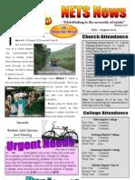 Prayer Letter July-August 2011