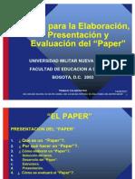Guia Para La Elaboracion Presentacion y Evaluacion