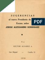 Sugerencias Al Nuevo Presidente de Chile Jorge Alessandri