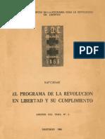 El Programa de La Revolucion en Libertad y Su Cumplimiento