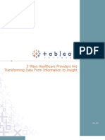 3 Ways Healthcare Providers Transforming Data 1