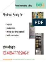 Safety According to Iec 60364-7-710.2002-11